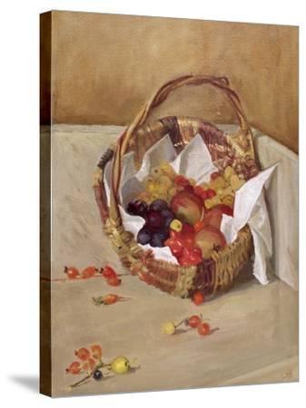 Basket of Fruit-Caroline Hervey-Bathurst-Stretched Canvas Print