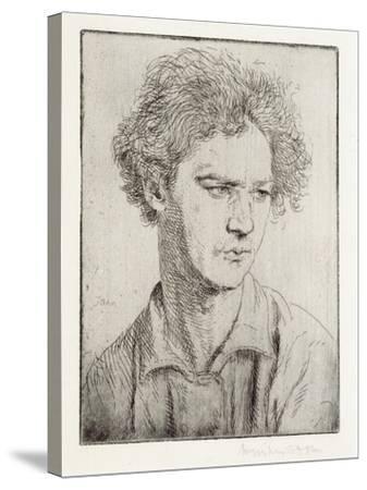 Jacob Epstein-Augustus Edwin John-Stretched Canvas Print