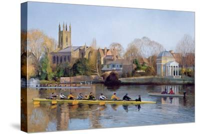 Winter Training at Hampton-Timothy Easton-Stretched Canvas Print