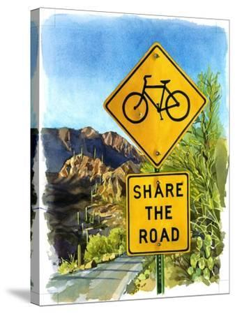 Share the Road, Gates Pass, 2004-Lucy Masterman-Stretched Canvas Print