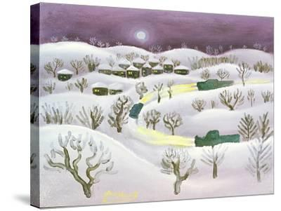 Winter Night, 1971-Radi Nedelchev-Stretched Canvas Print