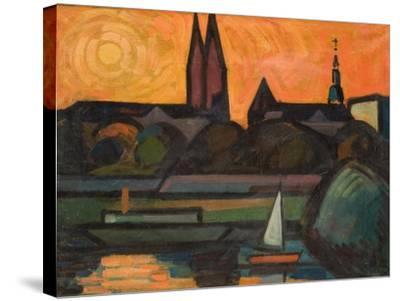 The River Tisza at Szeged, 1965-Emil Parrag-Stretched Canvas Print