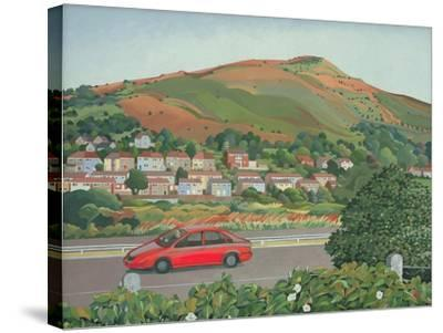 From the Train, South Wales-Anna Teasdale-Stretched Canvas Print