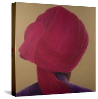 Deep Red Turban, Purple Jacket-Lincoln Seligman-Stretched Canvas Print
