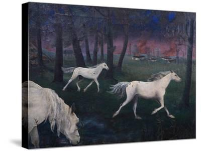 Fire, Panic, Wild Horses, 1947-Bettina Shaw-Lawrence-Stretched Canvas Print