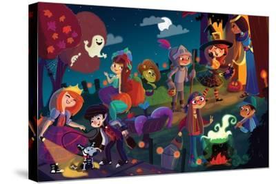 On Halloween Night - Jack & Jill-Tatevik Avakyan-Stretched Canvas Print