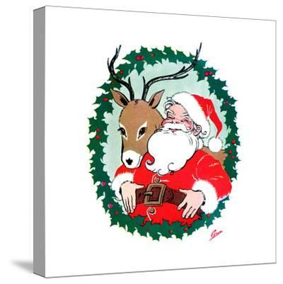 Ho Ho Ho! - Jack & Jill-Ann Eshner-Stretched Canvas Print