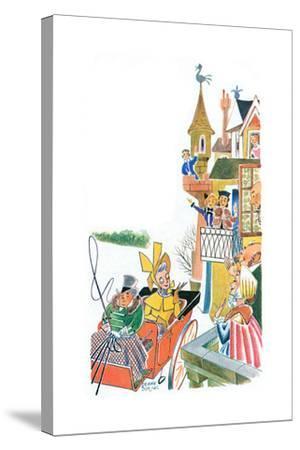 The Duchess Slides to Tea - Jack & Jill-Frank Dobias-Stretched Canvas Print