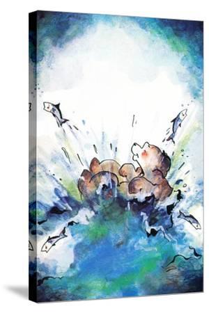 Splash Down - Jack & Jill-Edith Osborn Corbett-Stretched Canvas Print