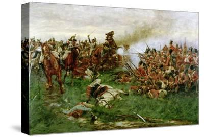 The 28th (1st Gloucestershire Regiment) at Waterloo, 1914-William Barnes Wollen-Stretched Canvas Print