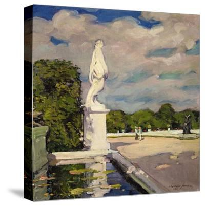On the Terrace, Versailles, 1906-Alexander Jamieson-Stretched Canvas Print