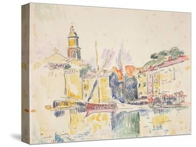 French Port of St. Tropez, 1914-Paul Signac-Stretched Canvas Print