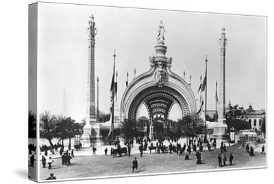 The Monumental Entrance at the Place de La Concorde at the Universal Exhibition of 1900, Paris-French Photographer-Stretched Canvas Print
