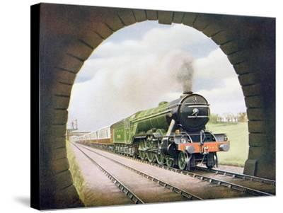 The 'Queen of Scots' of the North Eastern Railway, Illustration from 'The Wonder Book of…-English School-Stretched Canvas Print