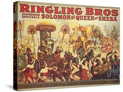 Poster Advertising the 'Ringling Bros.' Circus, c.1900-American School-Stretched Canvas Print