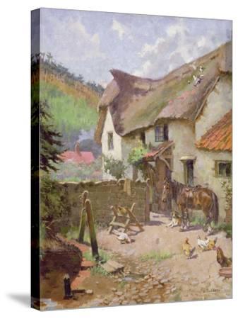 Farmyard, Porlock, Somerset-Leghe Suthers-Stretched Canvas Print