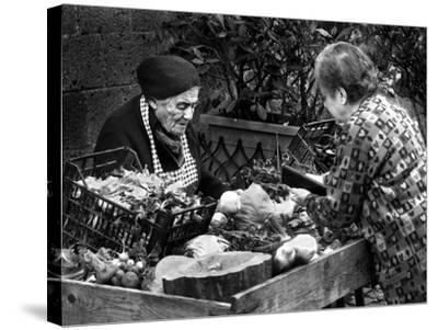 Italian Fruit Market, 2006--Stretched Canvas Print