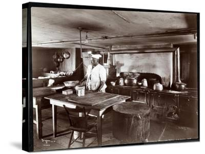 The Kitchen at Janer's Pavilion Hotel, Red Bank, New Jersey, 1903-Byron Company-Stretched Canvas Print