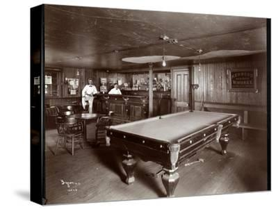 The Bar at Janer's Pavilion Hotel, Red Bank, New Jersey, 1903-Byron Company-Stretched Canvas Print