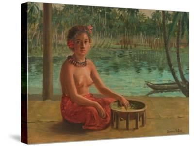 Making Kava, Samoa, 1901-Theodore Wores-Stretched Canvas Print