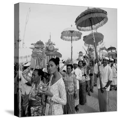 Temple Procession--Stretched Canvas Print