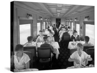 D&Rgw Dining Car Interior, c.1927-George Lytle Beam-Stretched Canvas Print