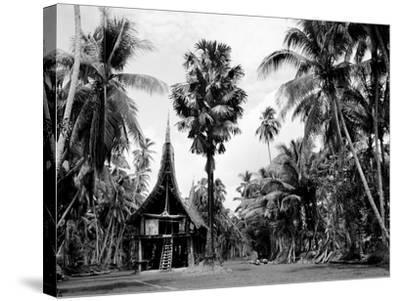 The House Tamberan of Kanganama on the Sepik River, Papua New Guinea, 1974--Stretched Canvas Print