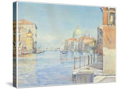 The Gran Canal, Venice, with the Santa Maria Della Salute, 1910-Gunnar Widforss-Stretched Canvas Print