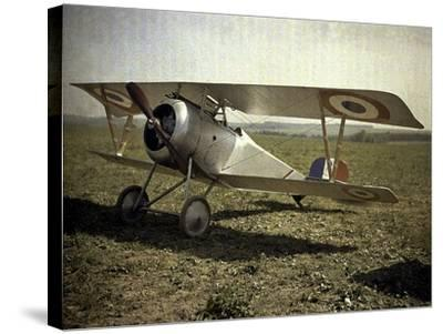 Nieuport Biplane, Aisne, France, 1917-Fernand Cuville-Stretched Canvas Print