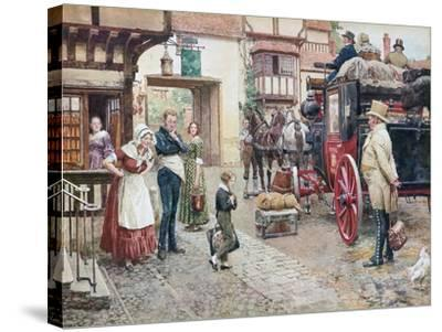 David Copperfield Goes to School-Fortunino Matania-Stretched Canvas Print