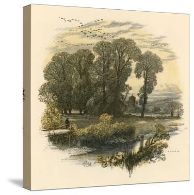 Sabbath Bells-Miles Birkett Foster-Stretched Canvas Print