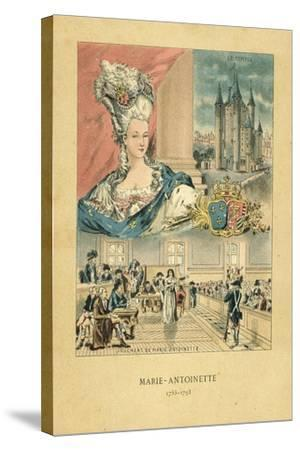 Marie Antoinette-French School-Stretched Canvas Print