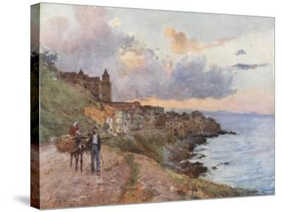 Cefalu: Sunset-Alberto Pisa-Stretched Canvas Print