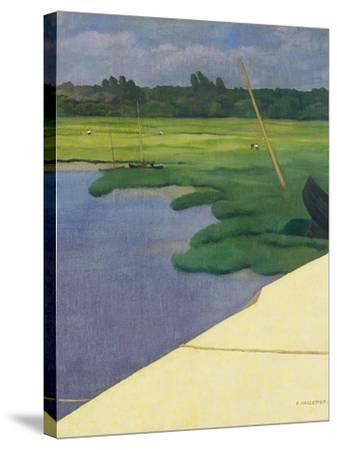 Quai de Berville, 1918-F?lix Vallotton-Stretched Canvas Print