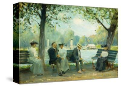 In the Public Gardens, Boston, 1904-Arthur Clifton Goodwin-Stretched Canvas Print