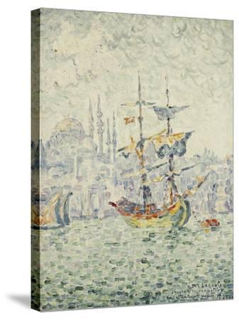 The Port of Constantinople; Le Port de Constantinople, 1907-Paul Signac-Stretched Canvas Print