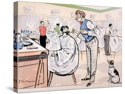 At the Barber and Reading 'Le Jockey', c.1905-E. Thelem-Stretched Canvas Print