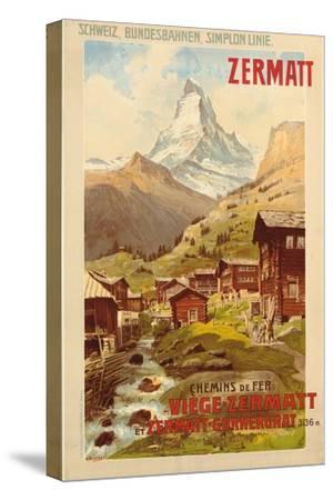 Zermatt, c.1900-Anton Reckziegel-Stretched Canvas Print
