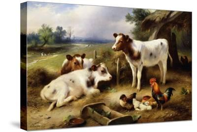 Farmyard Friends, 1923-Walter Hunt-Stretched Canvas Print