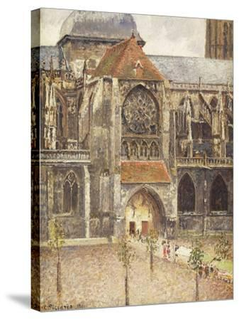 Portal of the Church of the Saint-Jaques in Dieppe; Portail de l'Eglise Saint-Jaques a Dieppe, 1901-Camille Pissarro-Stretched Canvas Print