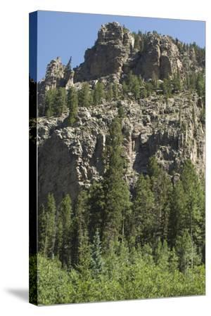 Cliff Along the Trampas Lakes Trail in the Pecos Wilderness, Sangre De Cristo Mountains--Stretched Canvas Print
