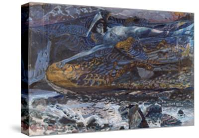 The Demon Downcast-Mikhail Alexandrovich Vrubel-Stretched Canvas Print