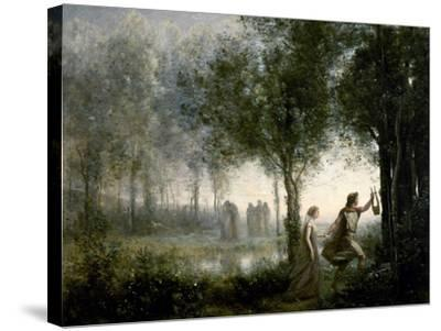 Orpheus Leading Eurydice From the Underworld-Jean-Baptiste-Camille Corot-Stretched Canvas Print