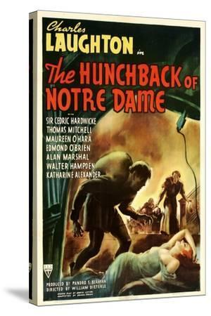 The Hunchback of Notre Dame, 1939--Stretched Canvas Print