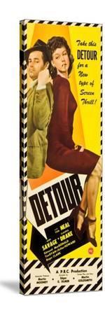 Detour, Tom Neal, Ann Savage, 1945--Stretched Canvas Print
