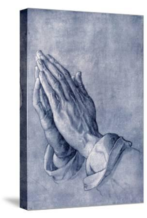 Praying Hands, Art by Durer-Sheila Terry-Stretched Canvas Print
