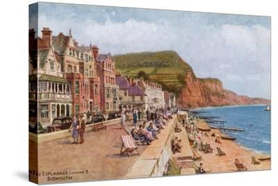 The Esplanade, Looking E, Sidmouth-Alfred Robert Quinton-Stretched Canvas Print