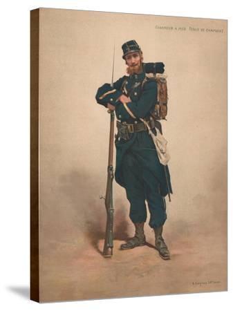 Chasseur a Pied, Tenue De Campagne--Stretched Canvas Print