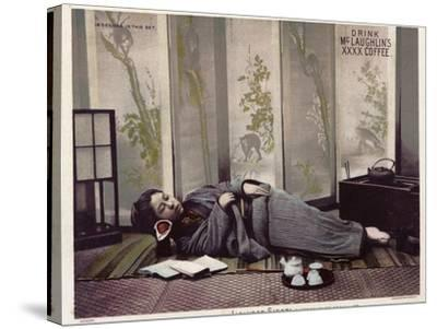 Japanese Siesta--Stretched Canvas Print