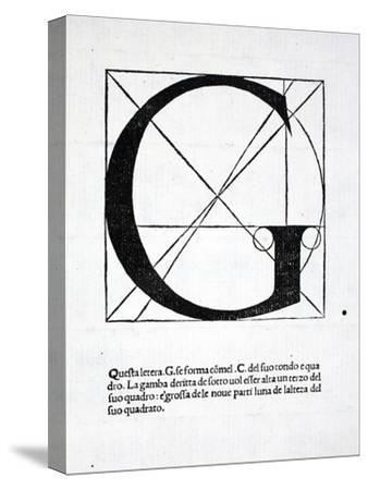 G, Illustration from 'Divina Proportione' by Luca Pacioli (C.1445-1517), Originally Pub. Venice,…-Leonardo da Vinci-Stretched Canvas Print